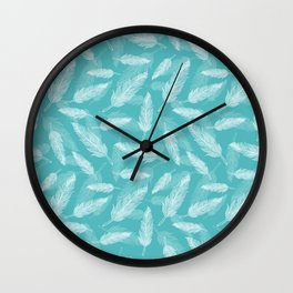 Seamless feathers pattern Wall Clock