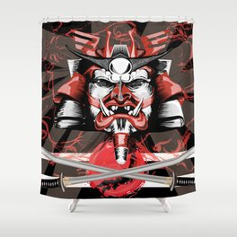 Samurai Flag Shower Curtain