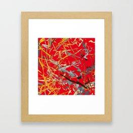 chaos structure Framed Art Print