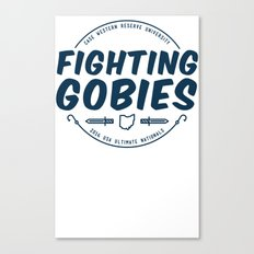 Fighting Gobies Nationals - Blue Canvas Print
