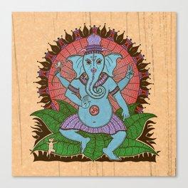 peace ganesh Canvas Print