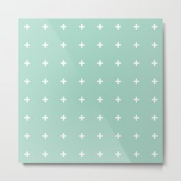 Mint Cross // Mint Plus ///www.pencilmeinstationery.com Metal Print