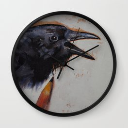 Raven Sketch Wall Clock
