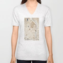Los Angeles California City Map Unisex V-Neck