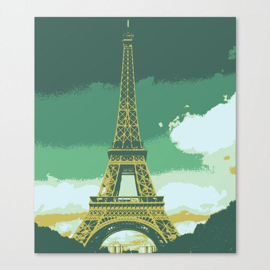 Eiffel Tower Paris Pop Art Canvas Print