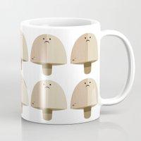 mushroom Mugs featuring Mushroom by Mister Linus