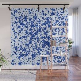 blue splatter Wall Mural