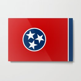 State flag of Tennessee, HQ image Metal Print