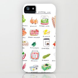 Grocery shopping list iPhone Case