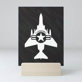 F-4 Phantom II Military Fighter Jet Airplane Mini Art Print