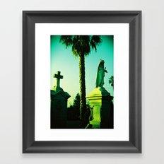 Mary Under the Palm Tree Framed Art Print