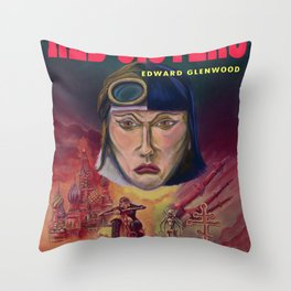 """""""Red Sisters"""" Book Cover Throw Pillow"""