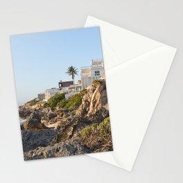 Villa Casa House Paradise Isla Mujeres Mexico Landscape Seascape Caribbean Sea Island Ocean Beach Stationery Cards