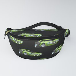 Classic Seventies Style American Muscle Car Cartoon Fanny Pack