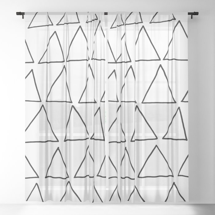 triangles at play Sheer Curtain