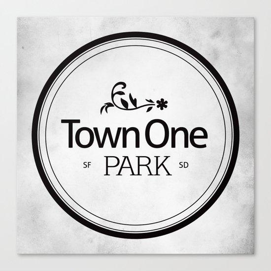 Town One Park Canvas Print