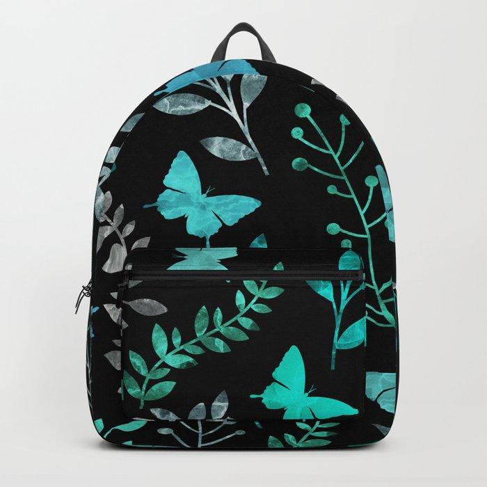 Watercolor flowers & butterflies IV Backpack