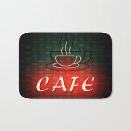 Neon Cafe Bath Mat