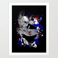 kakashi Art Prints featuring Kakashi Eye by feimyconcepts05