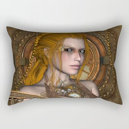 Steampunk, amazing steampunk women Rectangular Pillow