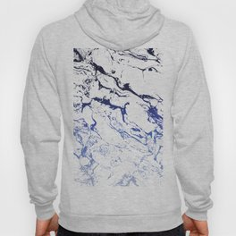 Modern white marble blue ombre navy blue watercolor gradient fade Hoody