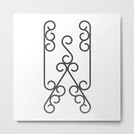 "Letter ""W"" in beautiful design Fashion Modern Style Metal Print"