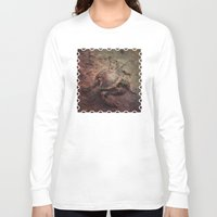 crab Long Sleeve T-shirts featuring Crab Nebula by Distortion Art
