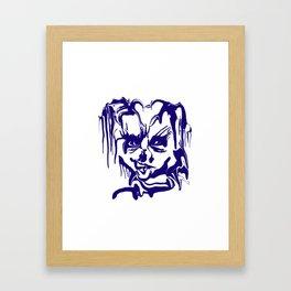 face14 blue Framed Art Print