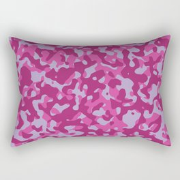 Pink Camo Pattern Rectangular Pillow