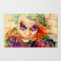 joker Canvas Prints featuring joker by mark ashkenazi