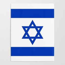 National flag of Israel Poster