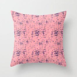 Pink pond Throw Pillow