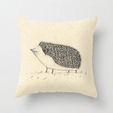 Monochrome Hedgehog Throw Pillow