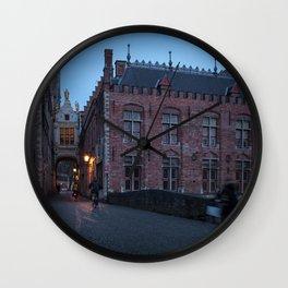 Bruges 3 Wall Clock