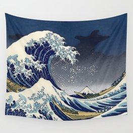 Great Wave Kanagawa Night Wall Tapestry