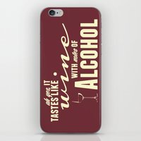 alcohol iPhone & iPod Skins featuring NOTES OF ALCOHOL by Sandhill