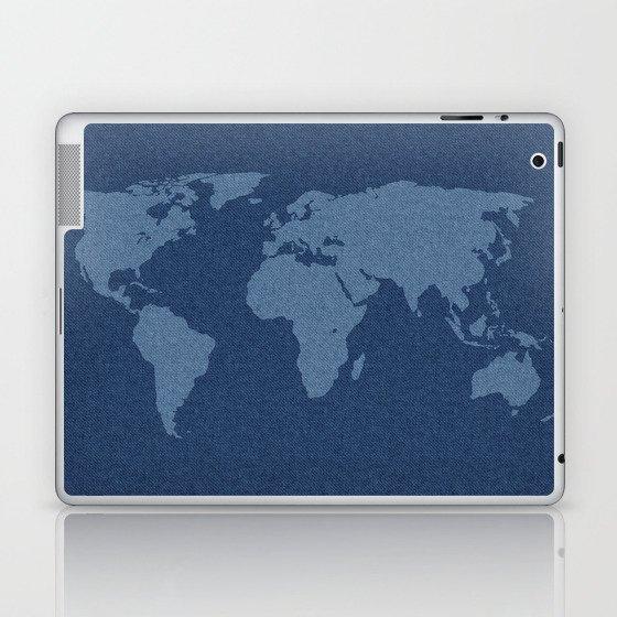Denim Map Laptop & iPad Skin