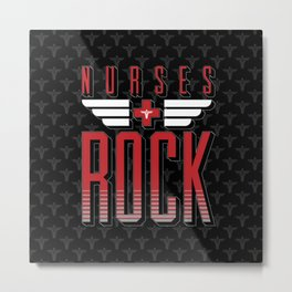 Nurses ROCK Metal Print