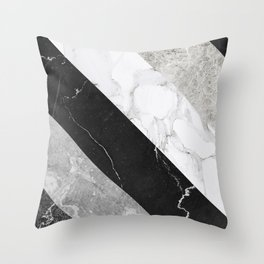 Contemporary Marble Stone Rays Throw Pillow