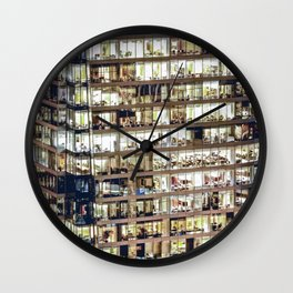 1711 Voyeuristic Vancouver Cityscape Wall Clock