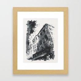 Street scene in sunny Provence Framed Art Print