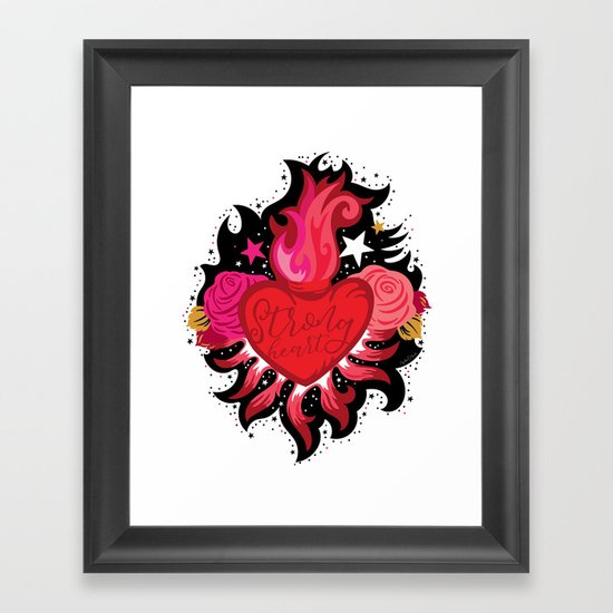 Strong Heart for Anti-Bullying Day and Every Day Framed Art Print