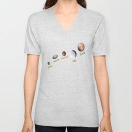 Dwarf Planets 2 Unisex V-Neck