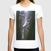 yosemite T-shirts featuring Yosemite Waterfall by RENA16