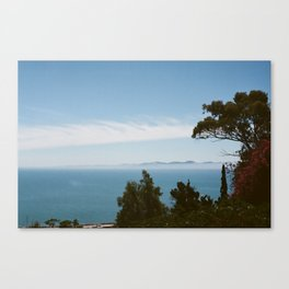 "The view from the garden at ""La Maison du Baron d'Erlanger"", Sidi Bou Saïd, Tunisia Canvas Print"
