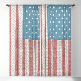 USA Sheer Curtain