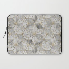 Modern gold geometric star flower pattern Laptop Sleeve