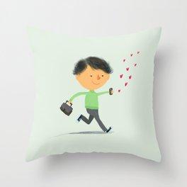 Boy in Love #3 Throw Pillow