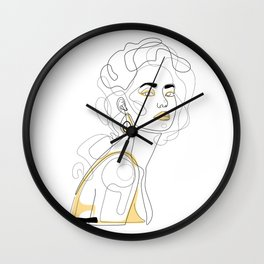 In Lemon Wall Clock