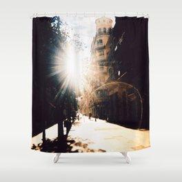 Poble Sec en Lomo Shower Curtain